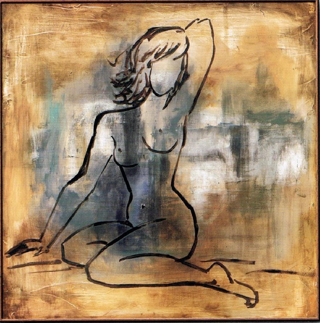 Dealer Erotic Sale Earth Tone Nude Figurative Canvas - 2