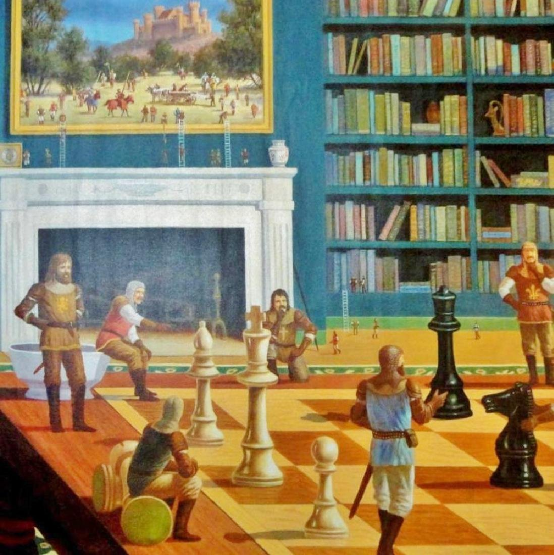 Chess Knights Surreal Large Giclee Signed 30x40 on - 3