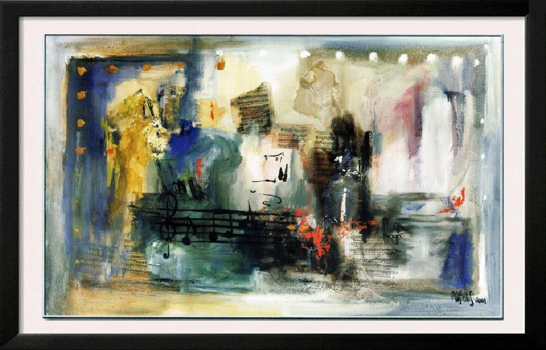 LARGE 47x78 Canvas Giclee Violin Abstract Modern Art