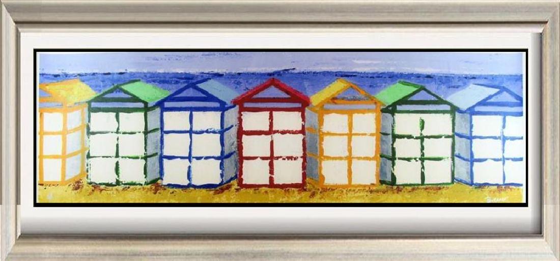 Beach Art Giclee Canvas Colorful 14x43 Great Art Sale
