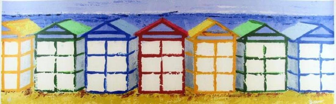 Beach Art Giclee Canvas Colorful 14x43 Great Art Sale - 2