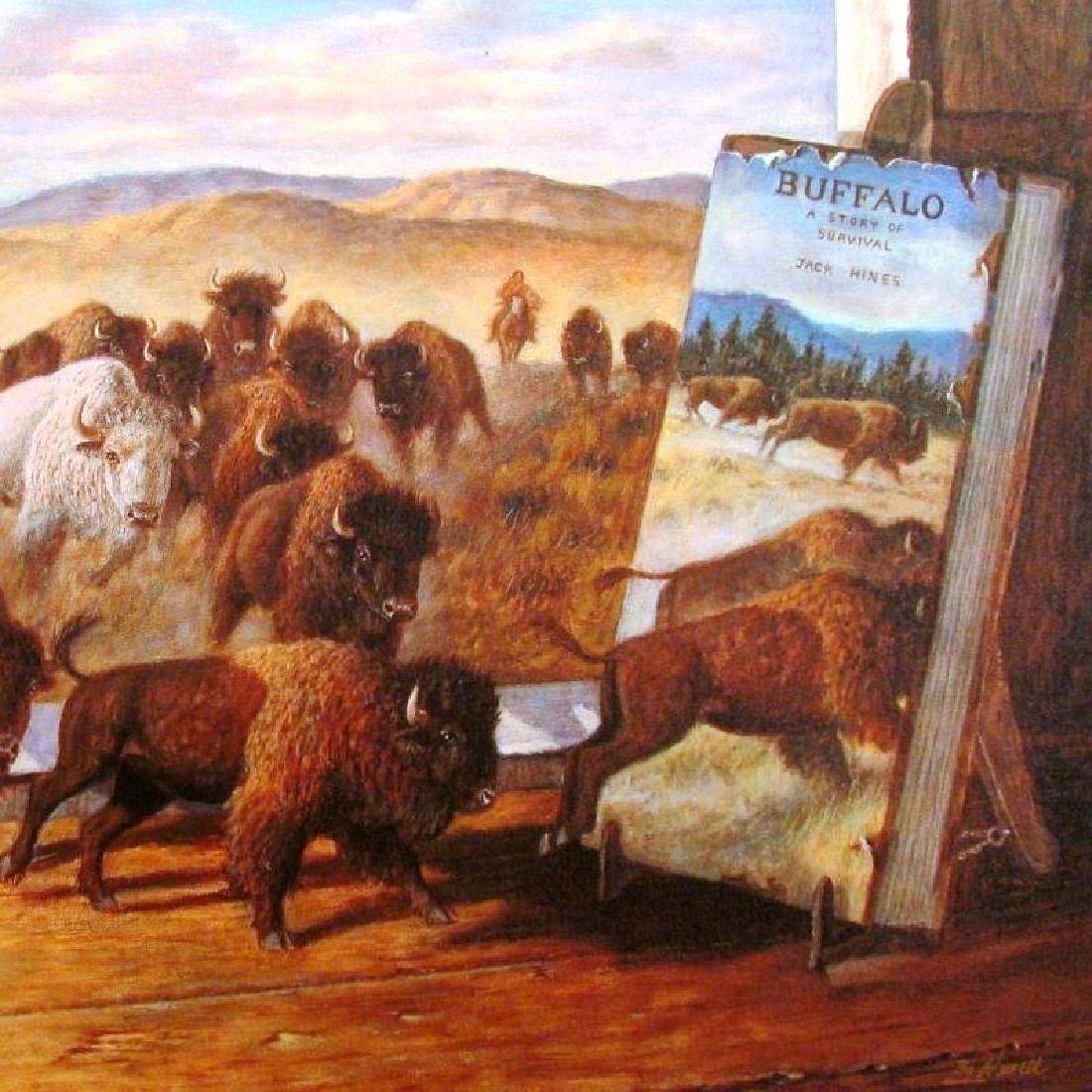 Buffalo Signed Ltd Ed Fantastic Realistic Wild West - 2