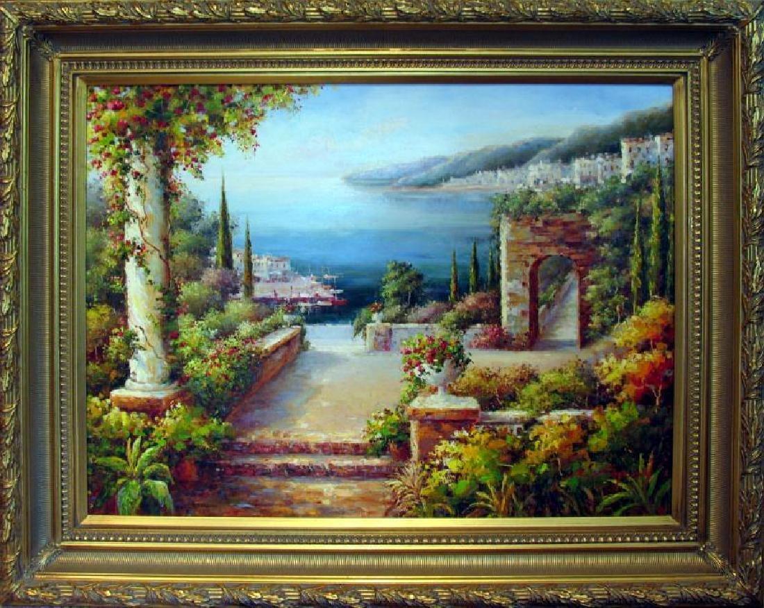 Landscape Scenic Ocean Floral Museum Framed DEALER