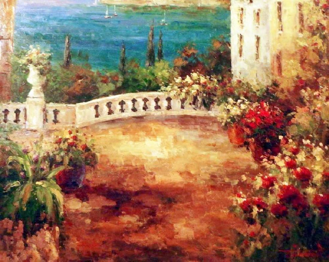 Textured Italian Original Painting Colorful Landscape - 3