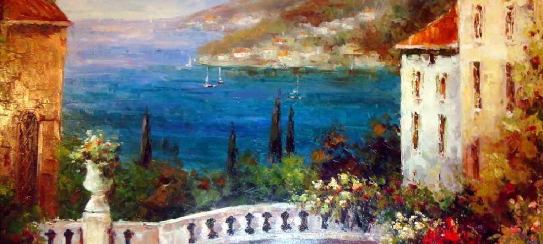 Textured Italian Original Painting Colorful Landscape - 4