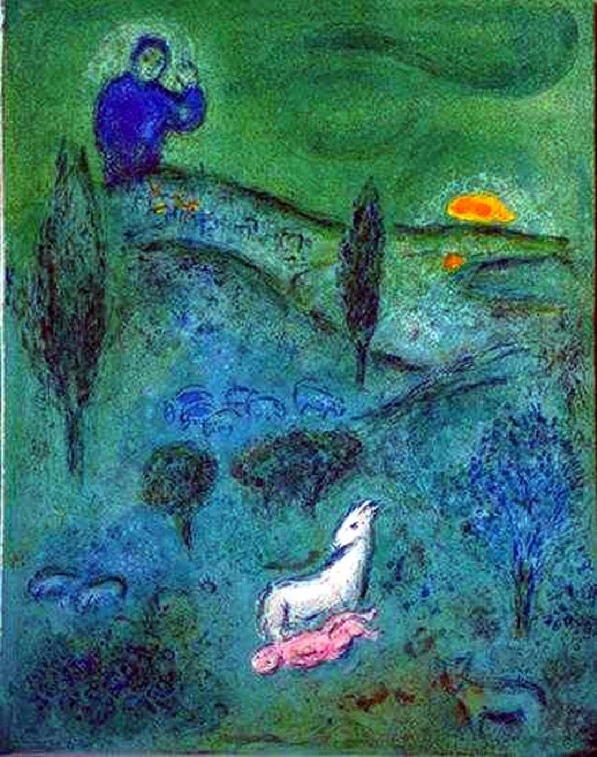 LAMB OF GOD MARC CHAGALL ORIGINAL COLORED LITHOGRAPH - 2
