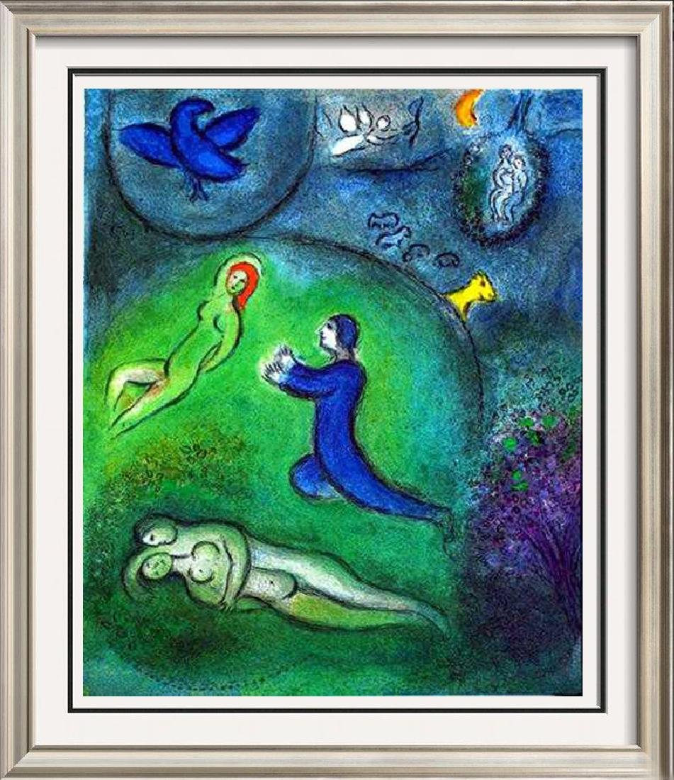 "Marc Chagall ""After"" Fantastic Colored Lithograph Sale"