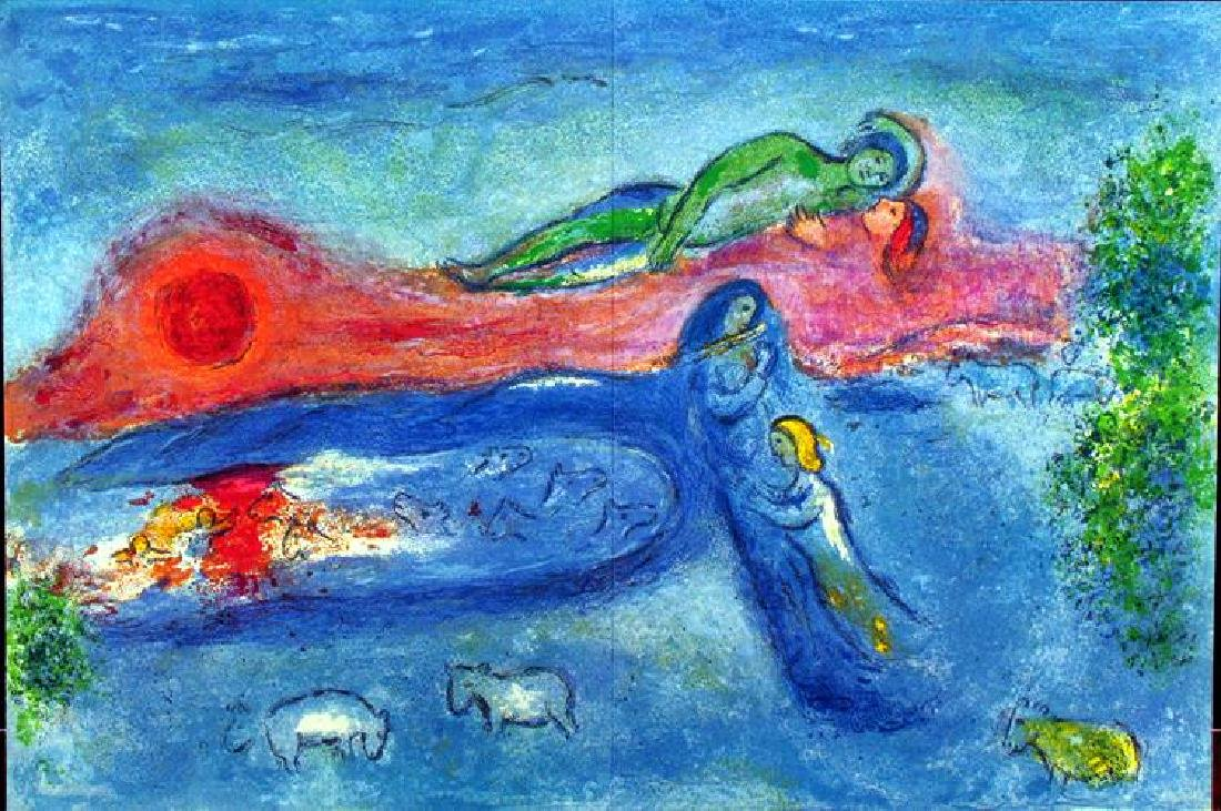 """Colored Chagall """"After"""" Lithograph Dealer Liquidates - 2"""