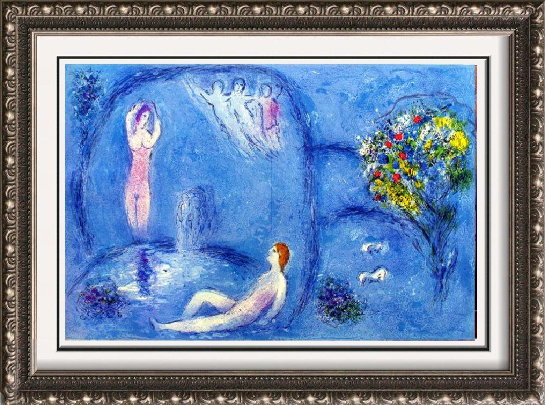 """Marc Chagall """"After"""" Lithograph Colored Collectible Art"""