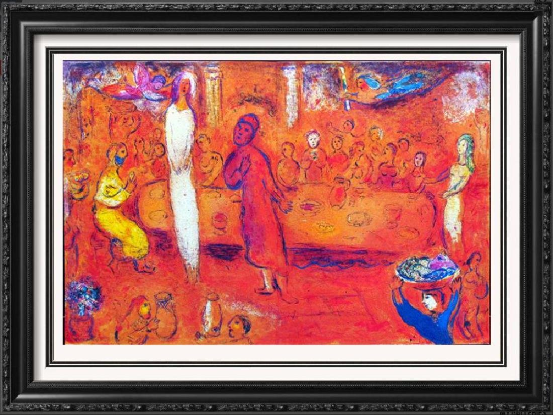 Double Width Chagall Unsigned Colored Litho