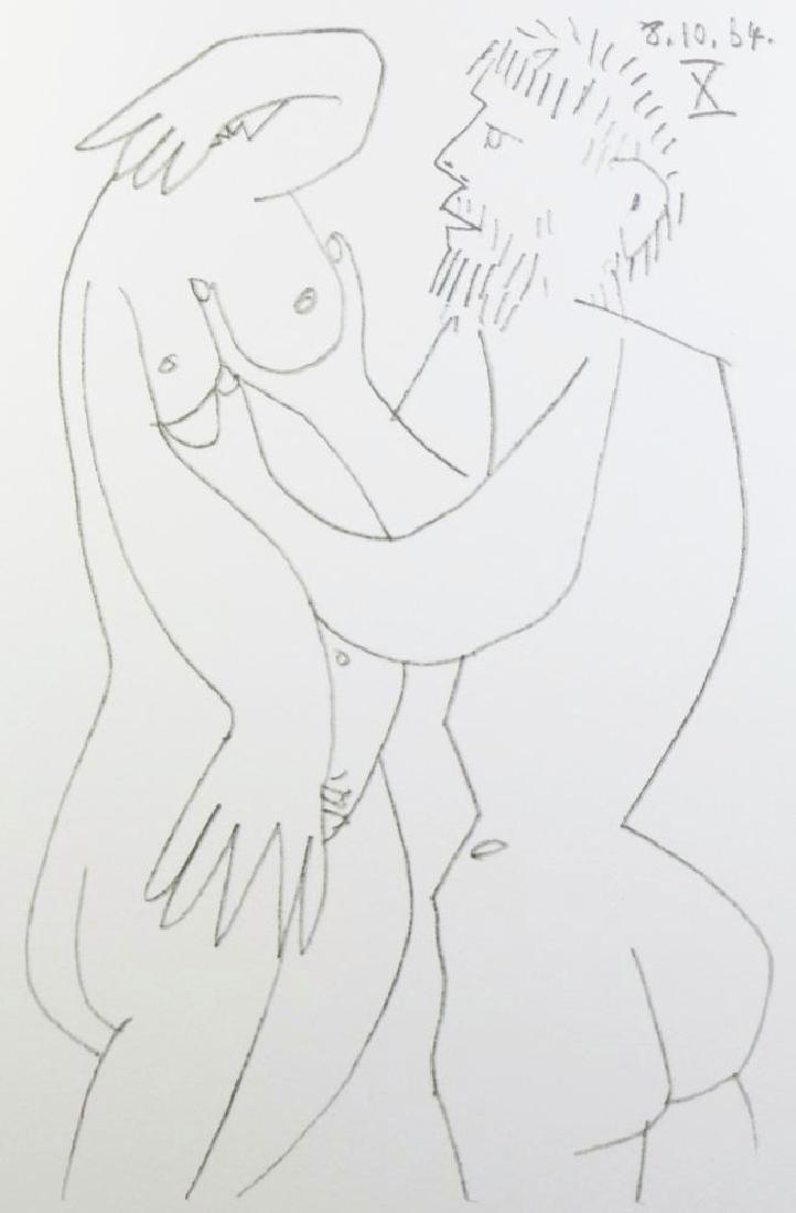 Pablo Picasso 1964 Lithograph Erotic Rare - 3