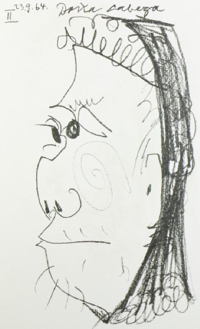 PICASSO PORTRAIT ABSTRACT LINE DRAWING 6.10.64