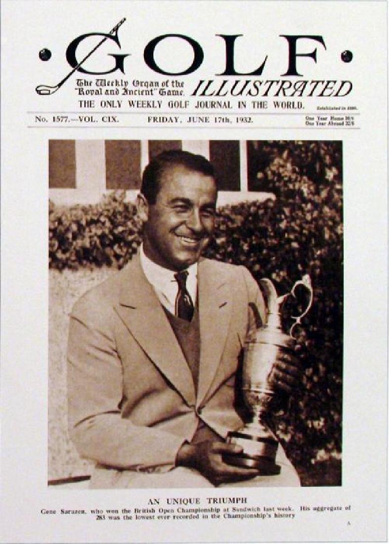 4 Old Style Golf Illustrated Nostalgia Golfer Prints - 4