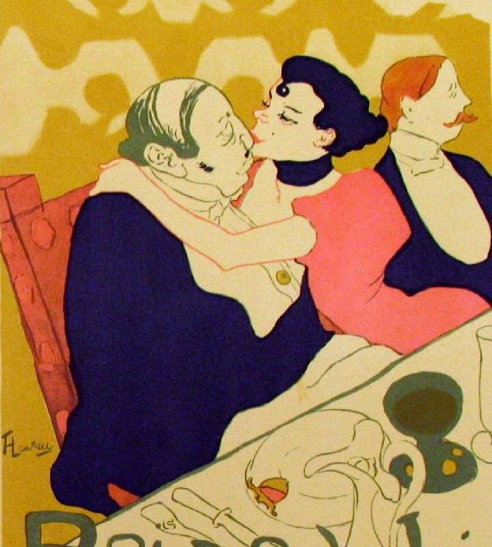 Toulouse-Lautrec Colored Lithograph Plate Signed - 2