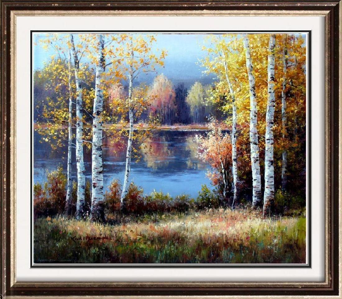 Fantastic Impressionism Canvas Fall Reflections