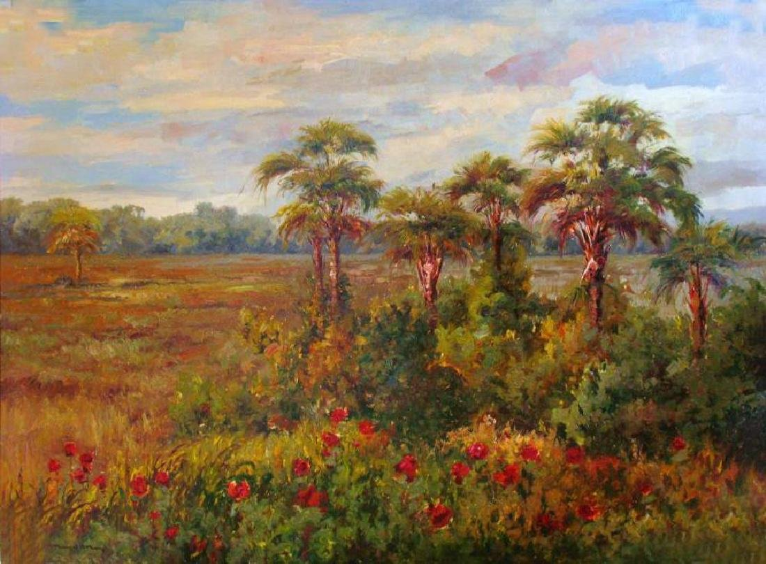 Impressionism Colorful Landscape Painting on Canvas - 2