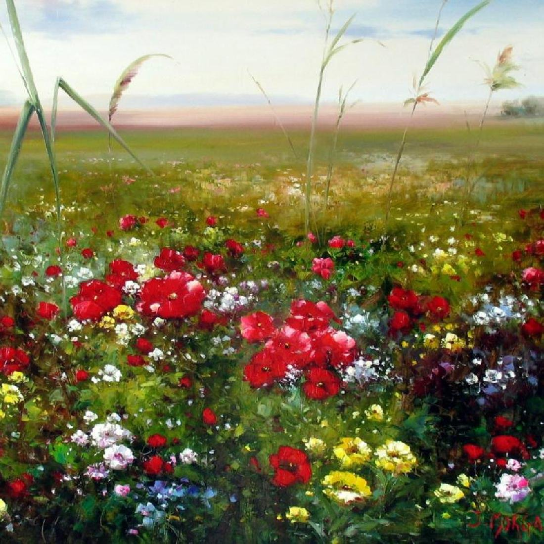 Flowers Colorful Landscape Impressionism Colorful - 2