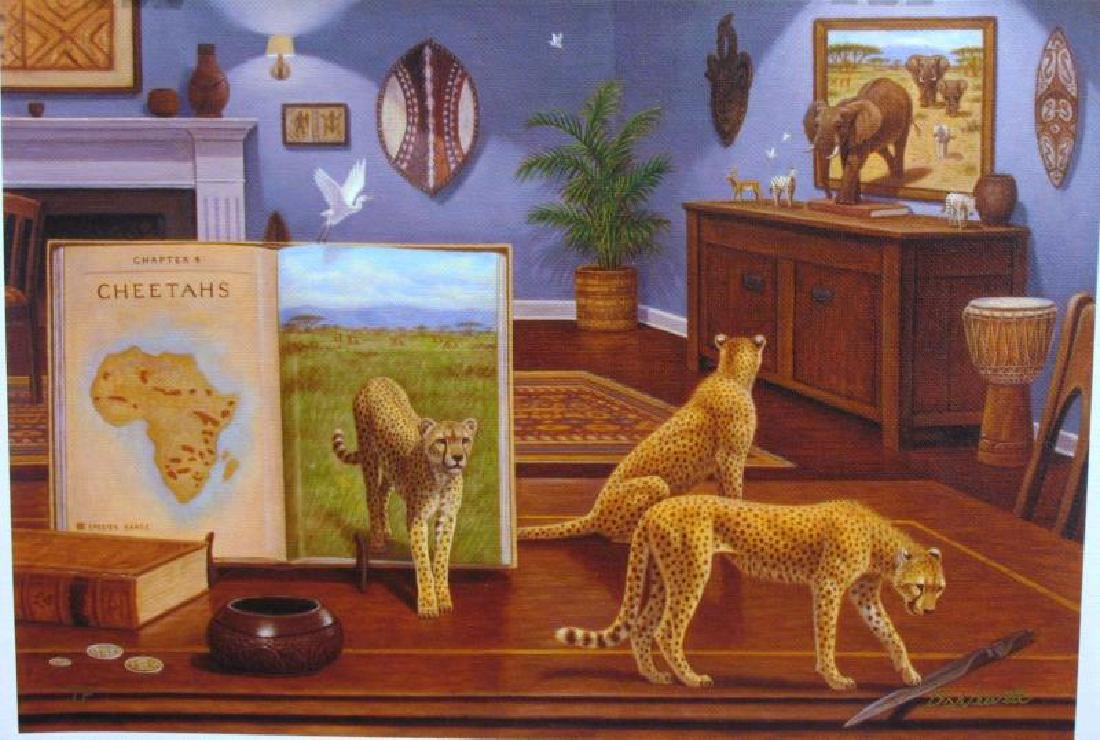 Newell Cheetahs Surreal Realism Limited Edition Signed