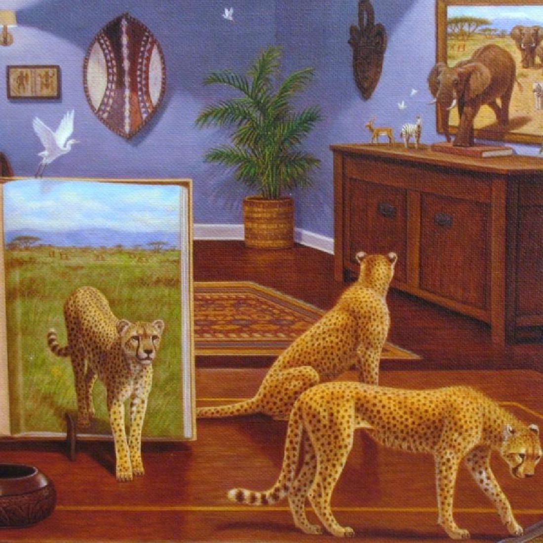 Newell Cheetahs Surreal Realism Limited Edition Signed - 2