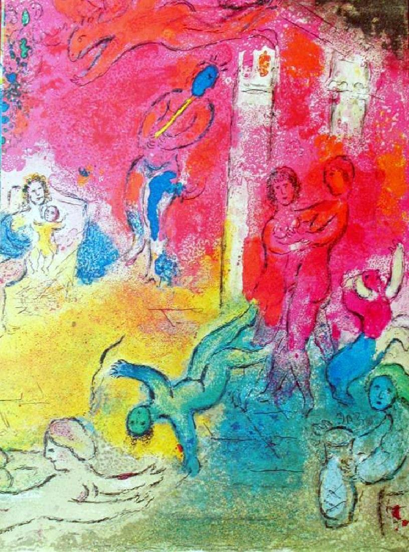 Fantastic Colored Lithograph Marc Chagall (After) - 2