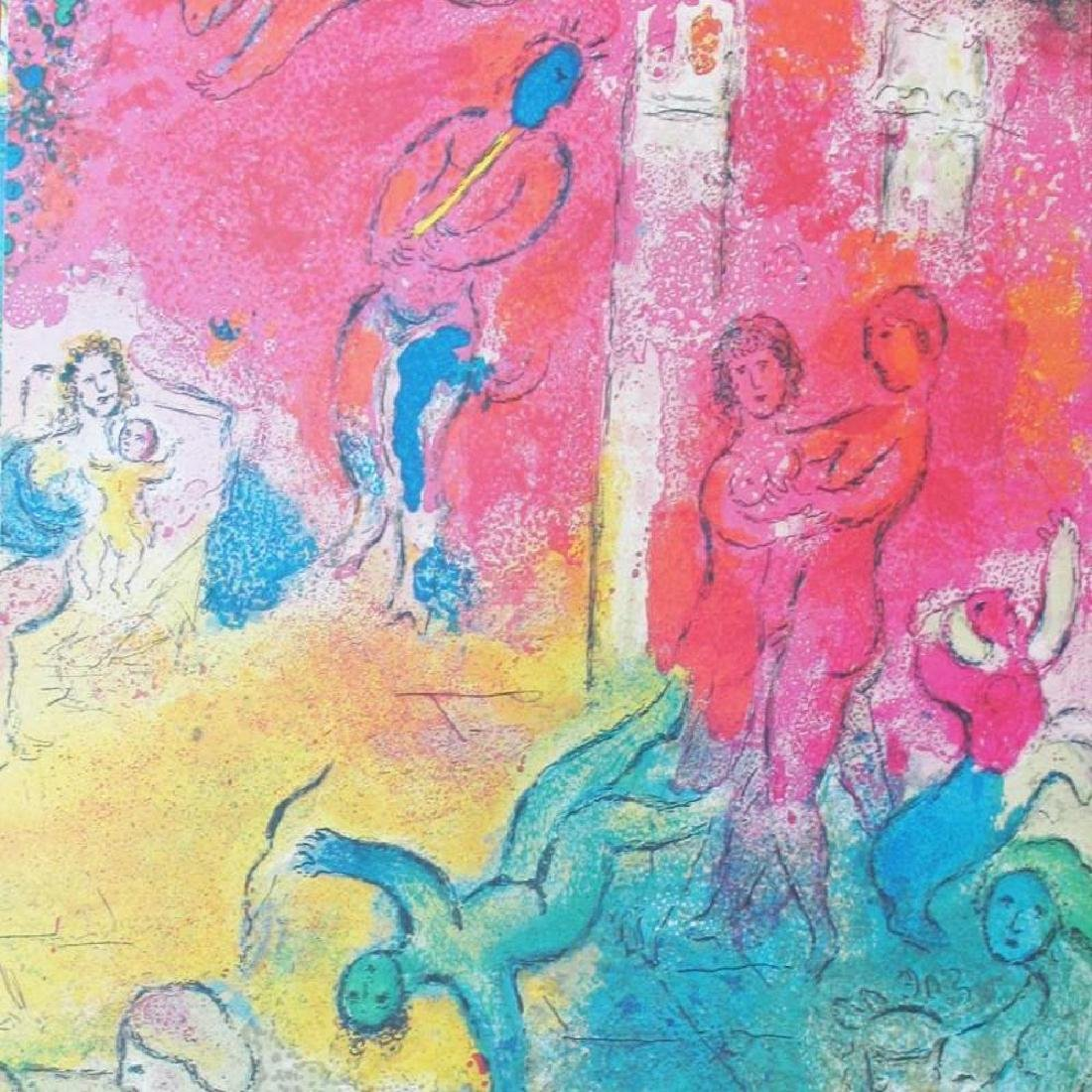 Fantastic Colored Lithograph Marc Chagall (After) - 3