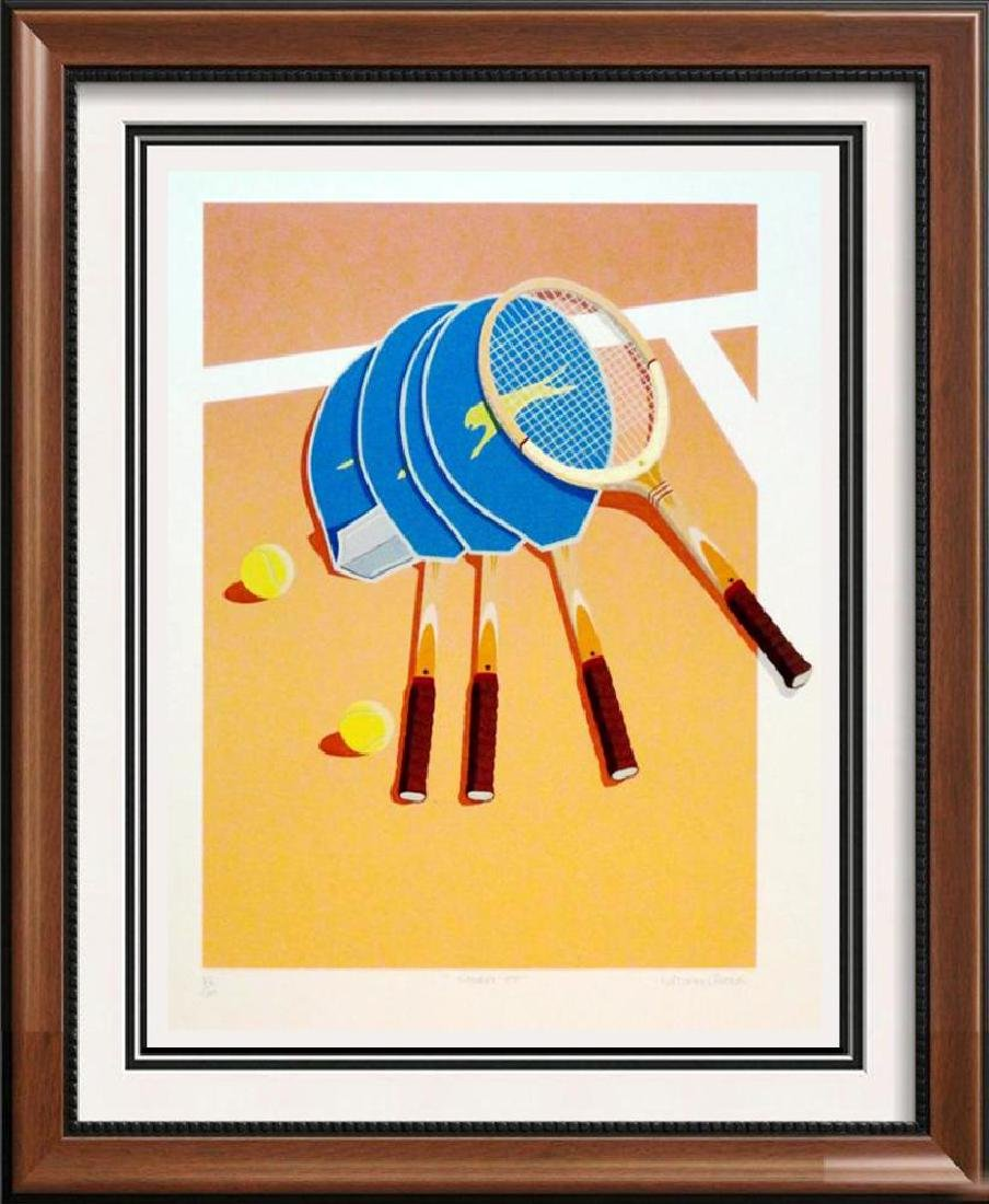 Tennis Lithograph Modern Style Colorful  Signed Limited