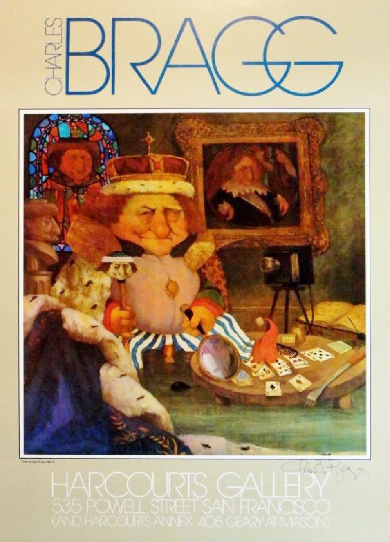 Charles Bragg Rare King Of Mes Litho Sale - 2