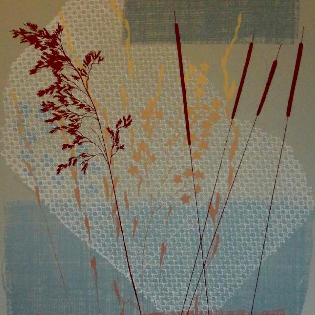 Rustic Abstract Litho on Paper Signed Art - 3