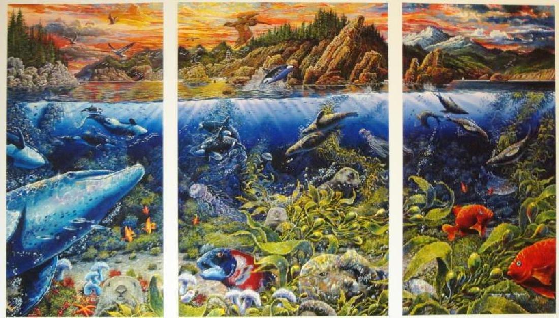 3 Pieces Underwater Nelson Lassen Style Realism Ocean