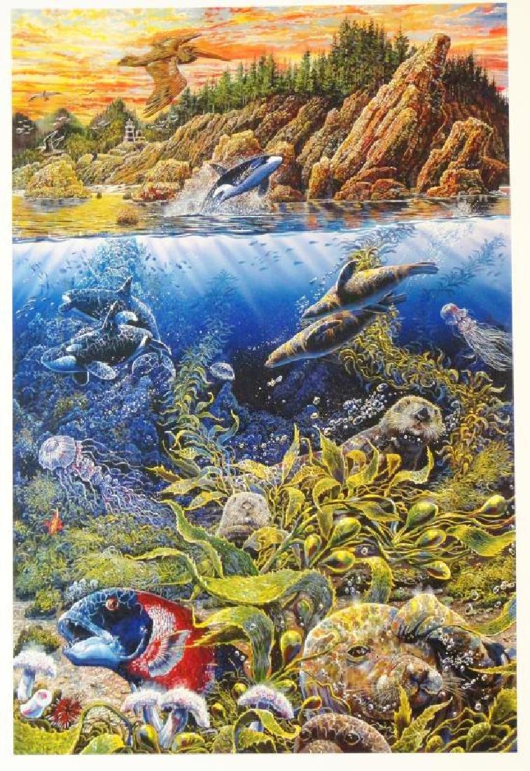 3 Pieces Underwater Nelson Lassen Style Realism Ocean - 3