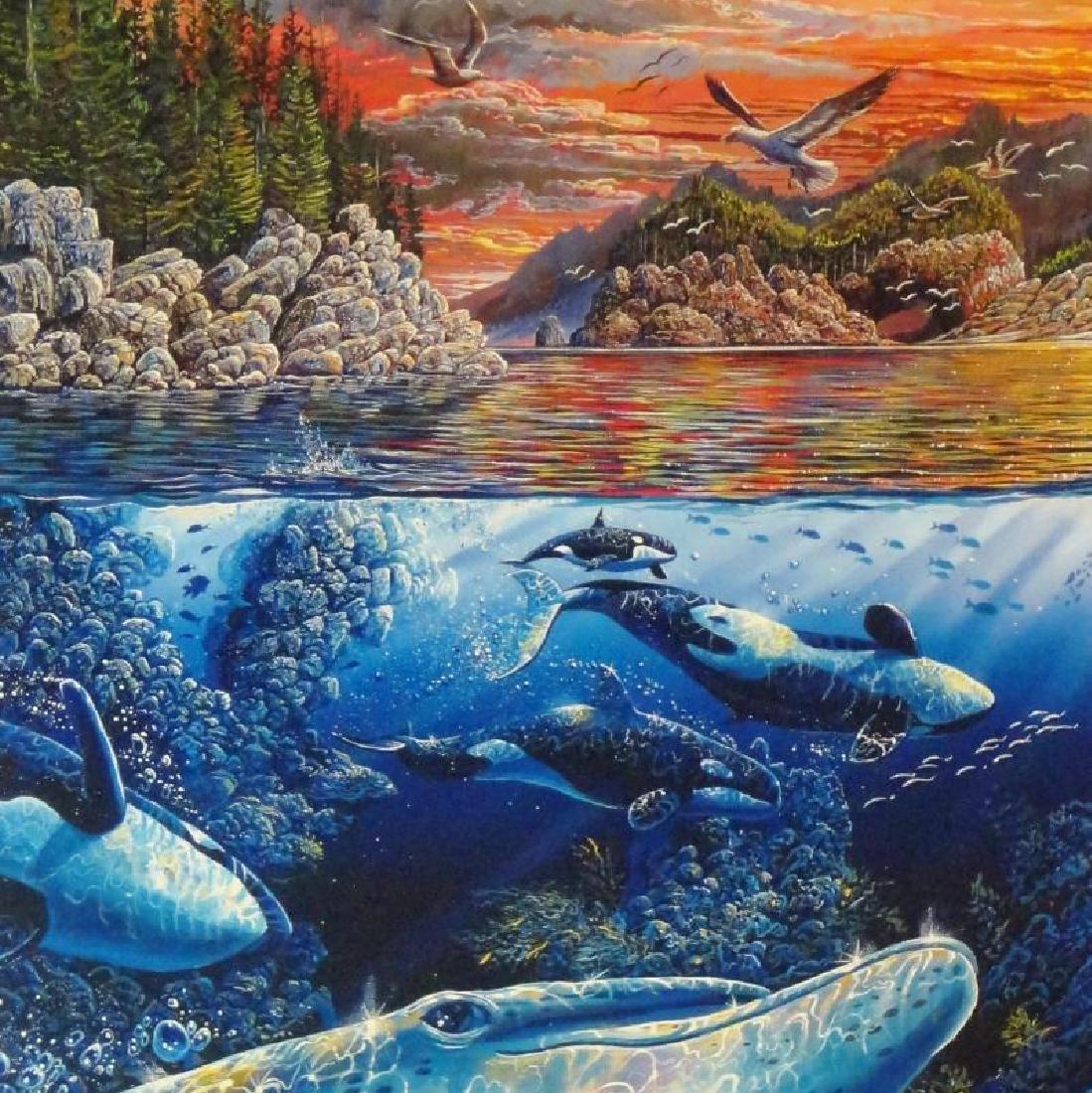 3 Pieces Underwater Nelson Lassen Style Realism Ocean - 4