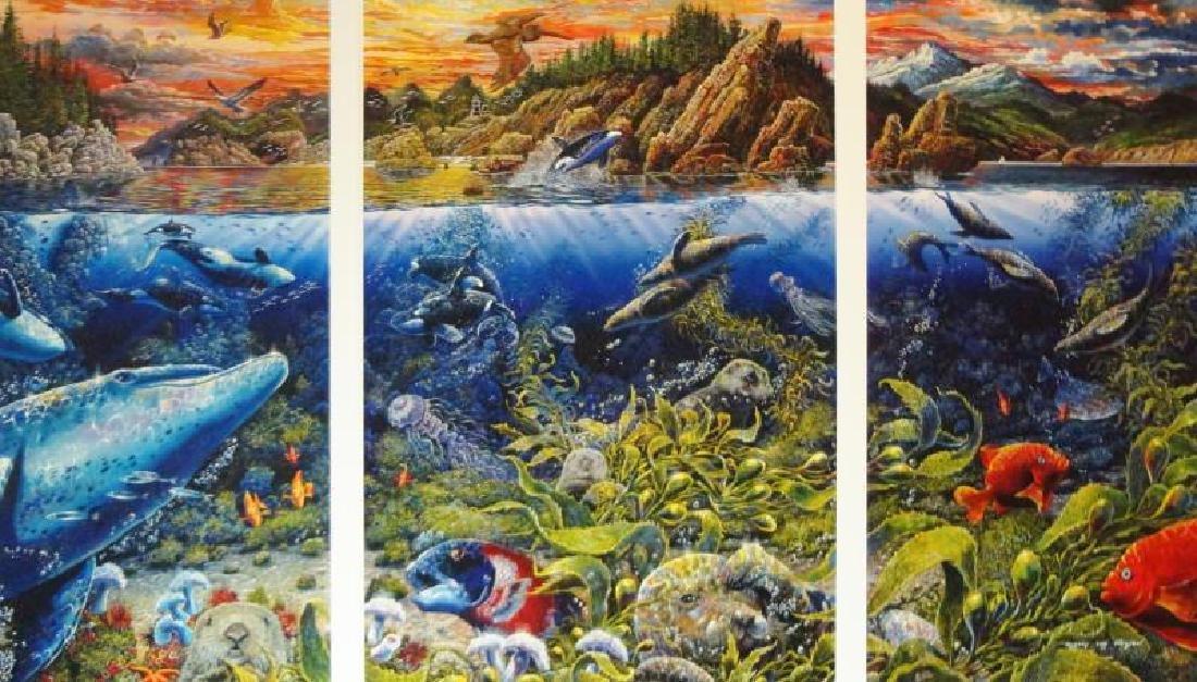 3 Pieces Underwater Nelson Lassen Style Realism Ocean - 5