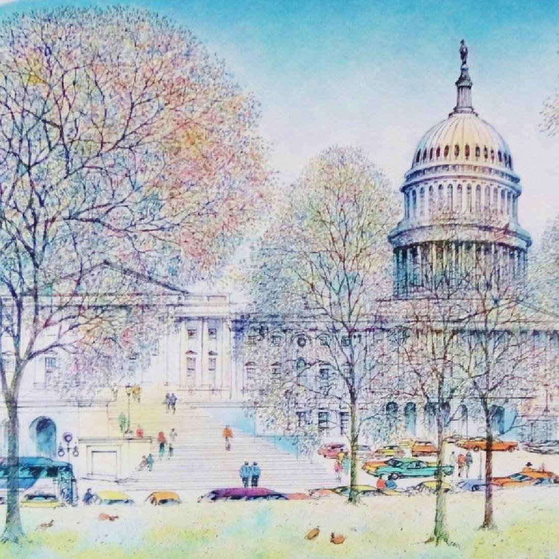 1978 Washington DC Art Print Exhibition Plate Signed - 2