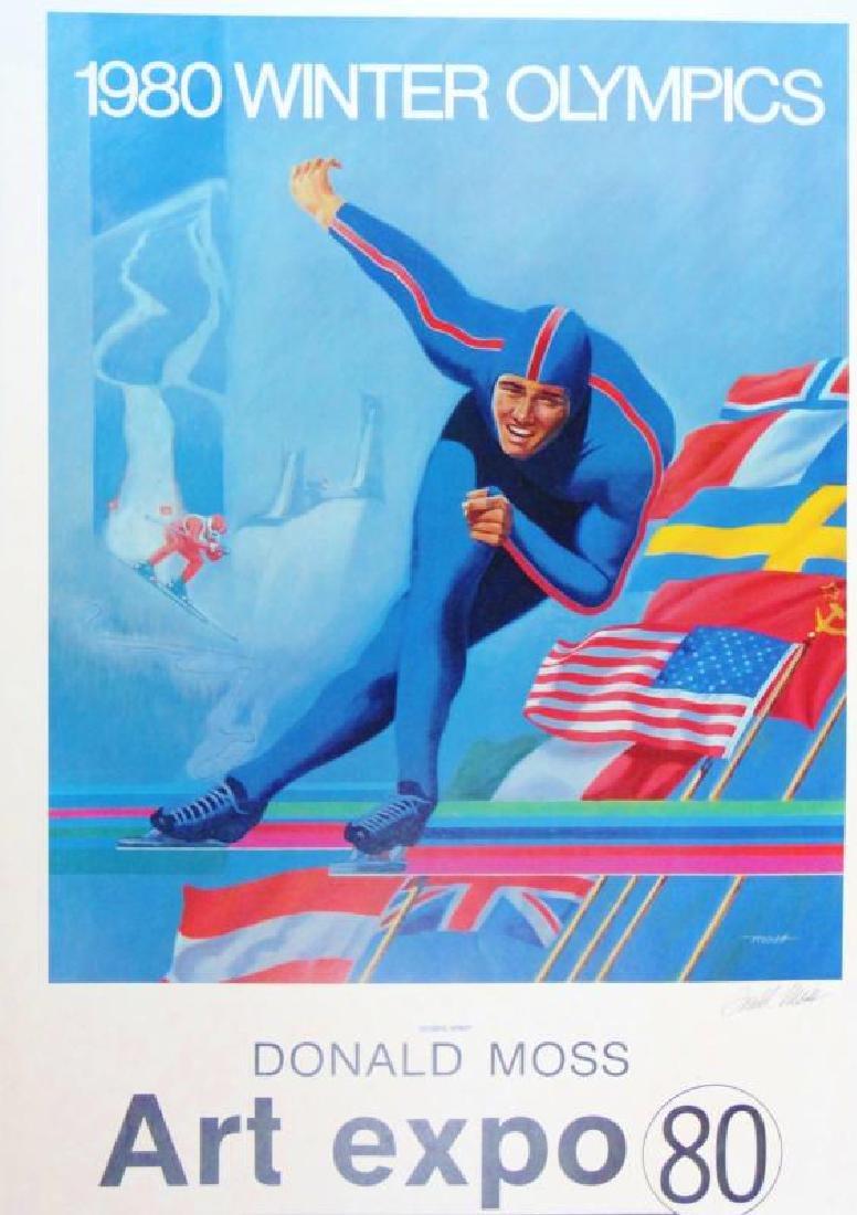 1980 Winter Olympics Print Hand Signed Donald Moss