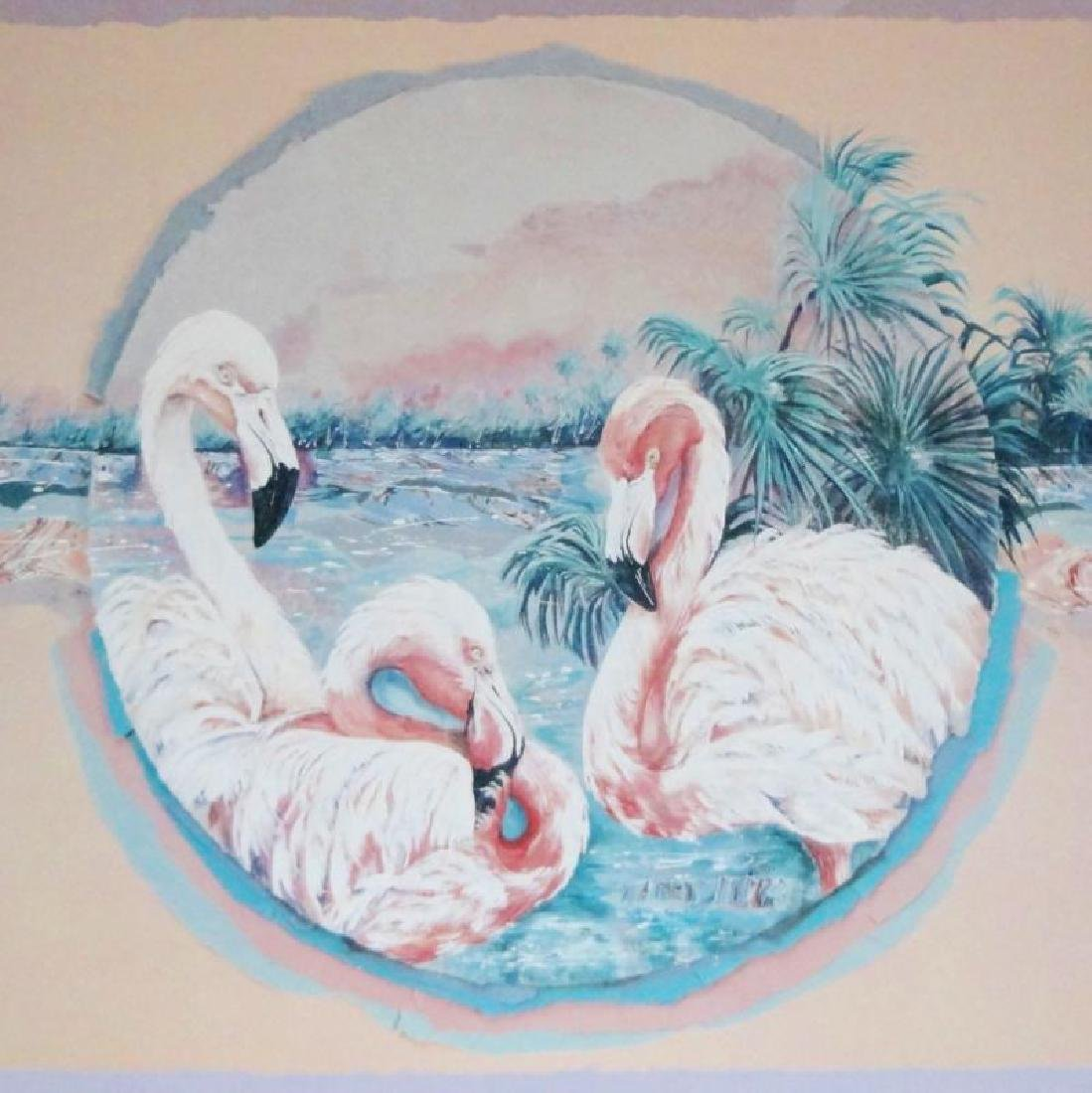 Flamingos Art Print - 2