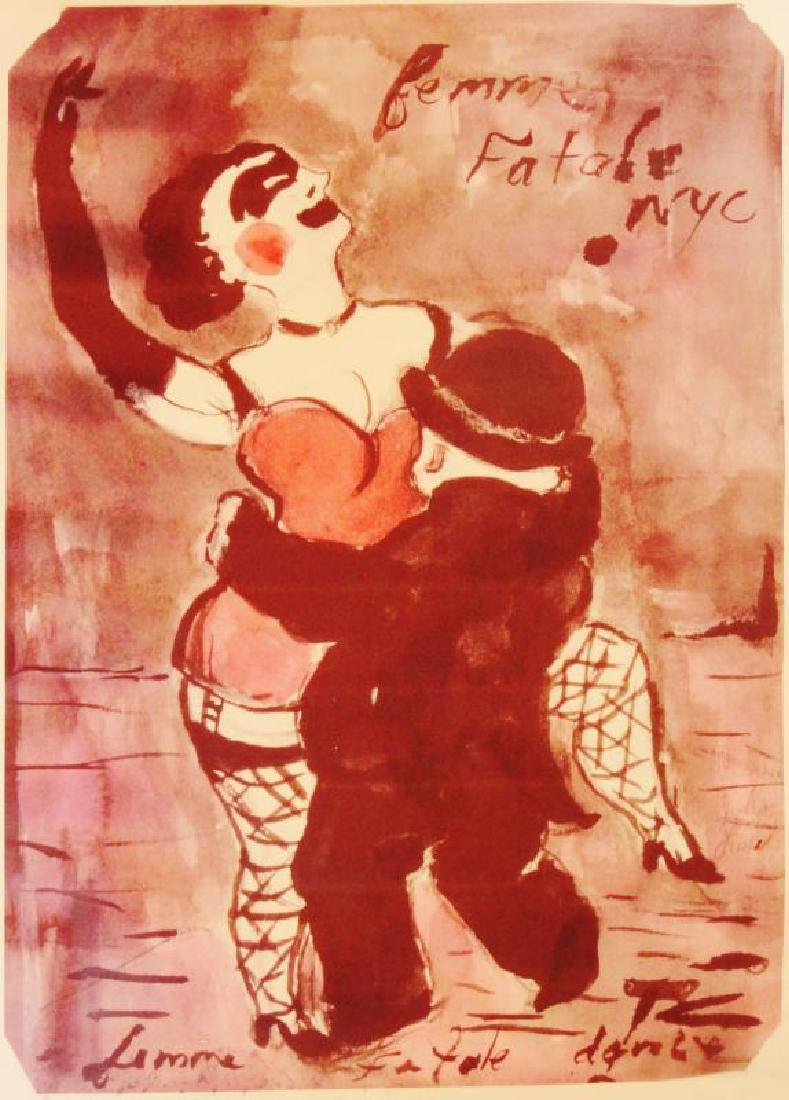 Femme Fatale NYC Giclee on Canvas - 3