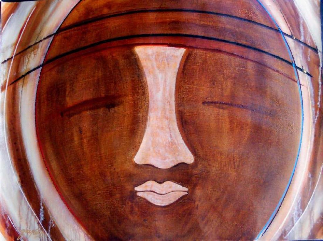 Earth Tone Beautiful Picasso Style Modern Abstract - 2