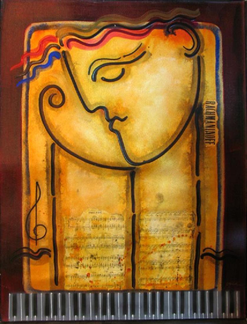 Rachmaninoff Abstract Modern Figurative Gaylord Art - 3