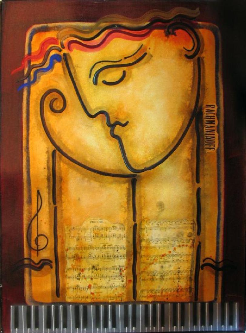 Rachmaninoff Abstract Modern Figurative Gaylord Art - 4