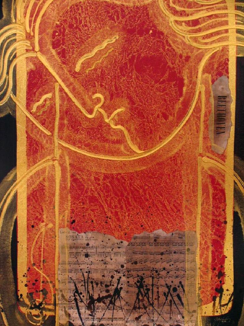 Beethoven Signed Ltd Ed Mixed Media Music Abstract Art - 2