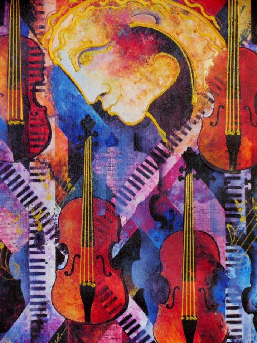 Violins of Mozart Abstract Colorful Canvas Modern Art - 4