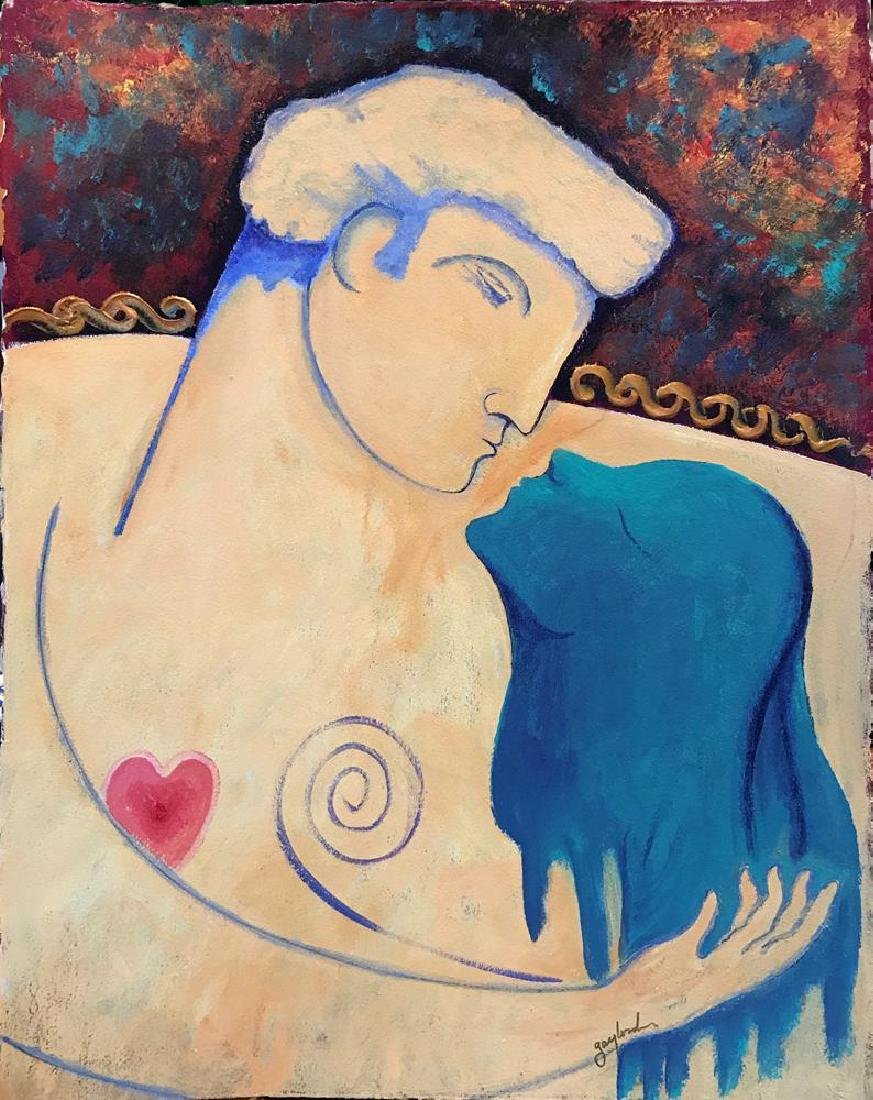 Lovers Gaylord Soli Original Signed Painting - 2