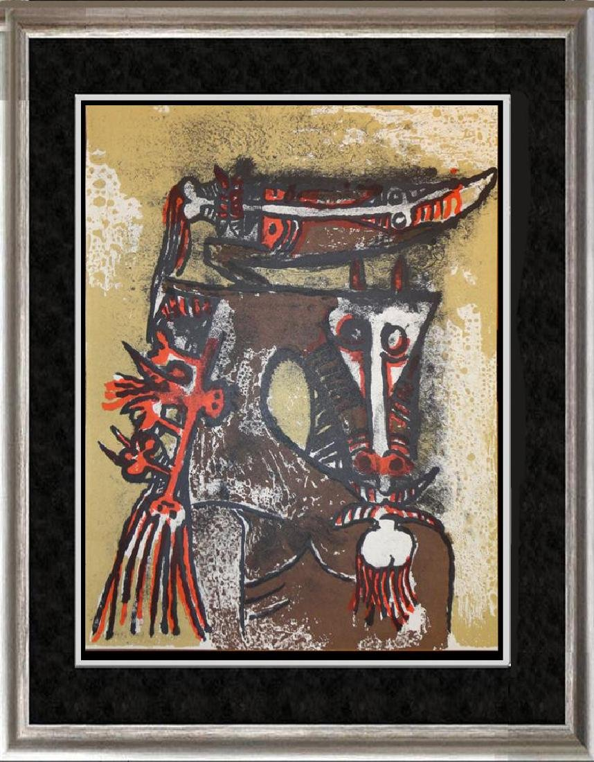 Wifredo Lam Rare Colored Litho from Special Issue of XX