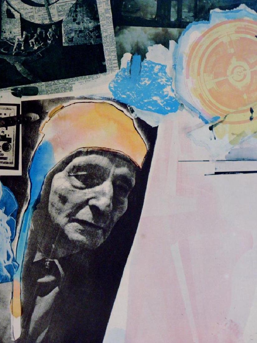 Fantastic Find Robert Rauschenberg Collage Lithograph - 3