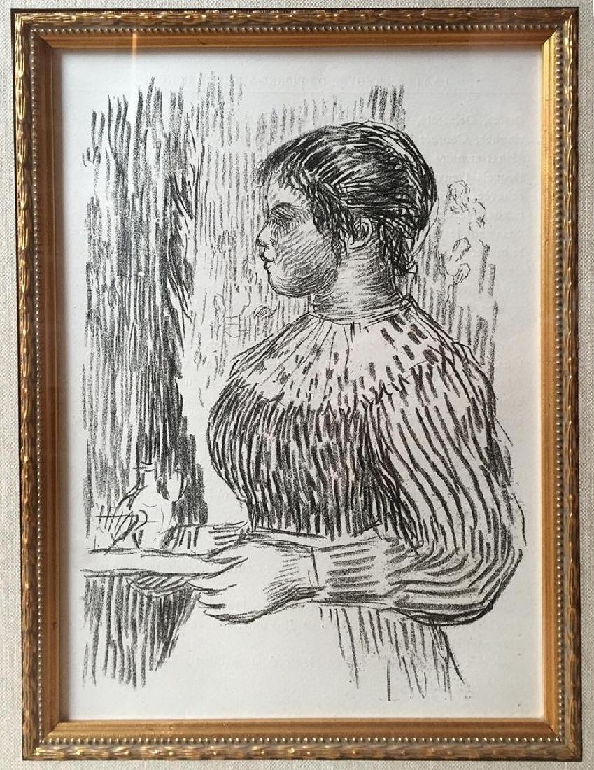 RARE c.1919 Pierre Auguste Renoir Lithograph after the - 2