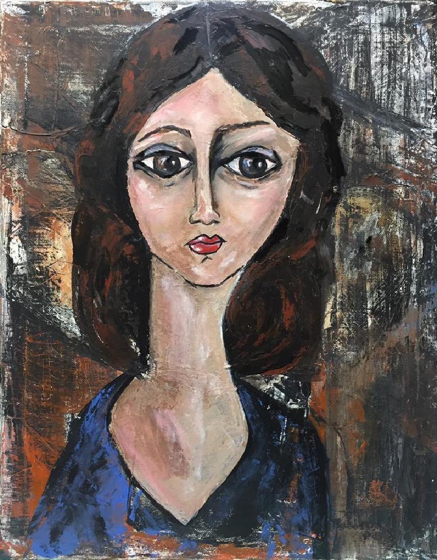 Swahn Original Painting on Canvas Modigliani Style - 2
