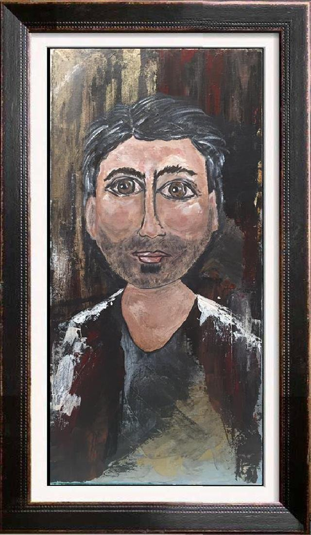 Poker Face Male Original Painting on Canvas Swahn - 3