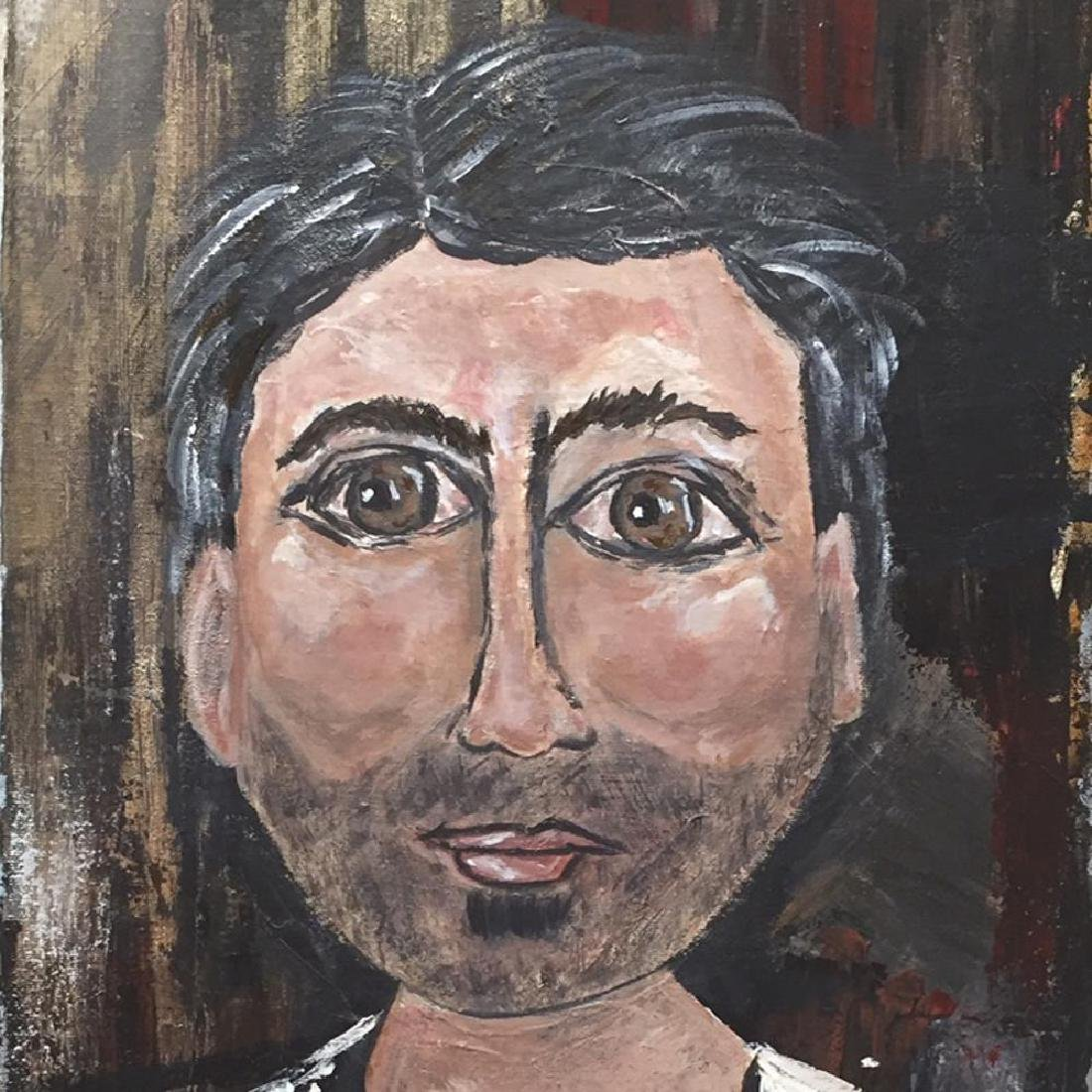 Poker Face Male Original Painting on Canvas Swahn - 4