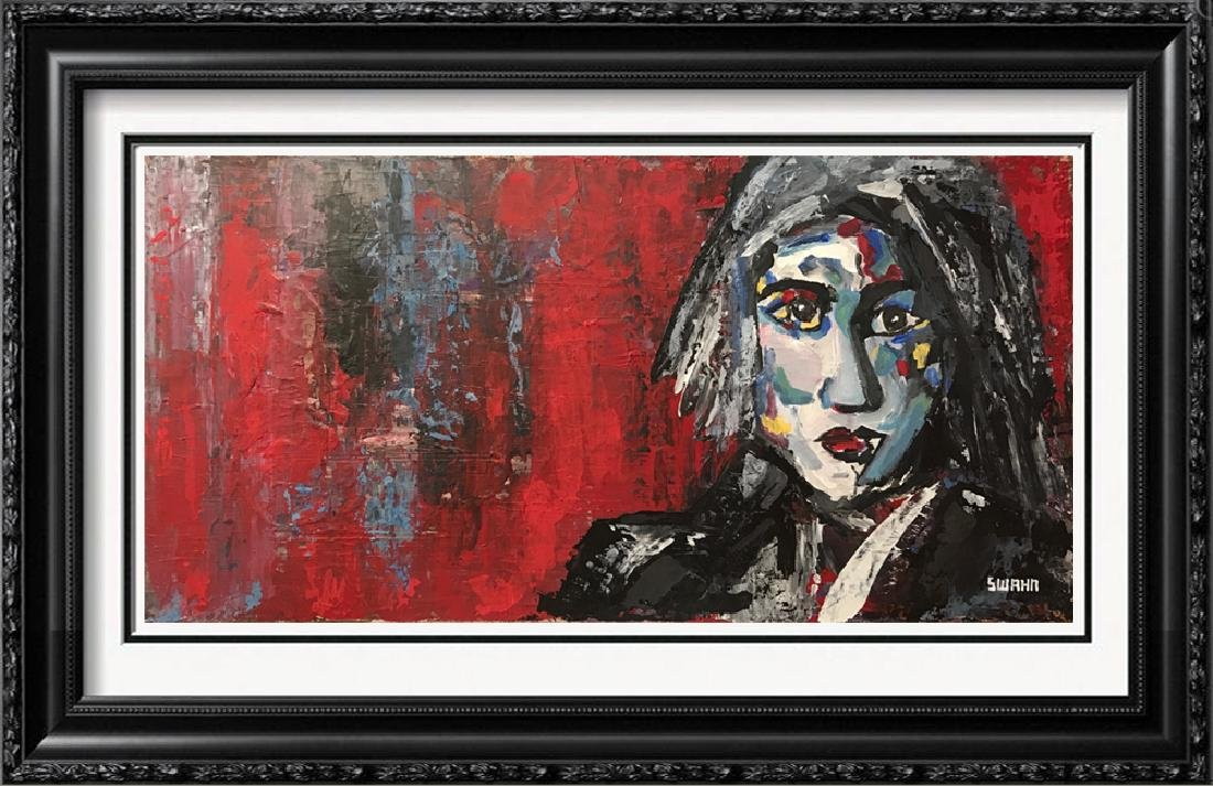 Pop Rock Heavy Textured Max Style Painting on Canvas