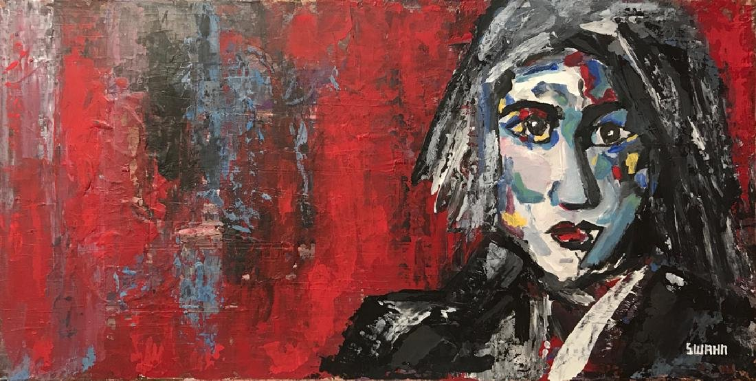 Pop Rock Heavy Textured Max Style Painting on Canvas - 2